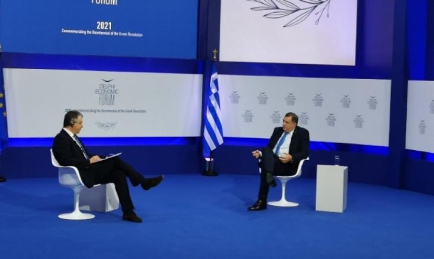 Неугодна питања грчких медија за Милорада Додика