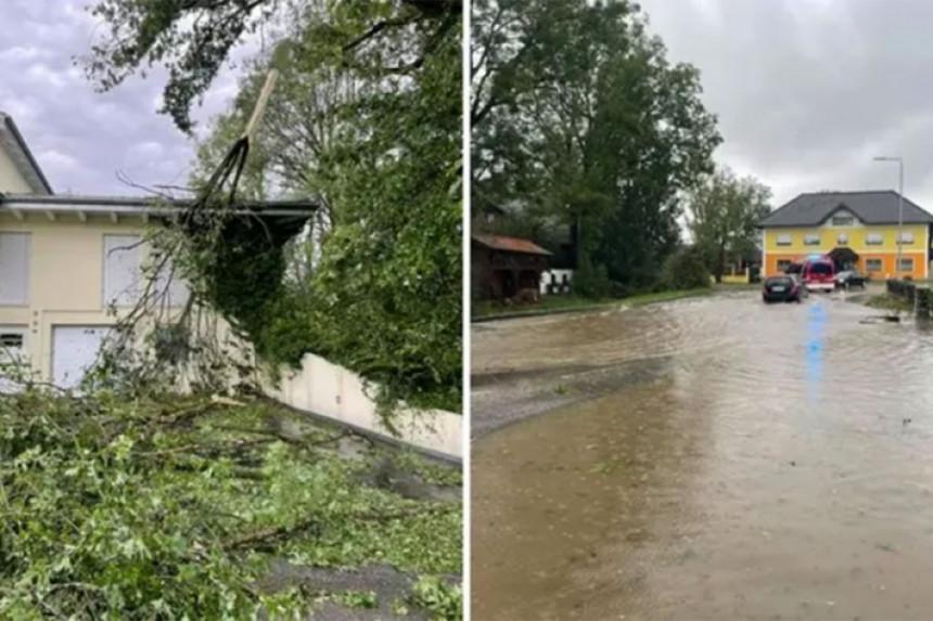 Orkansko nevrijeme poharalo dijelove Austrije (VIDEO)