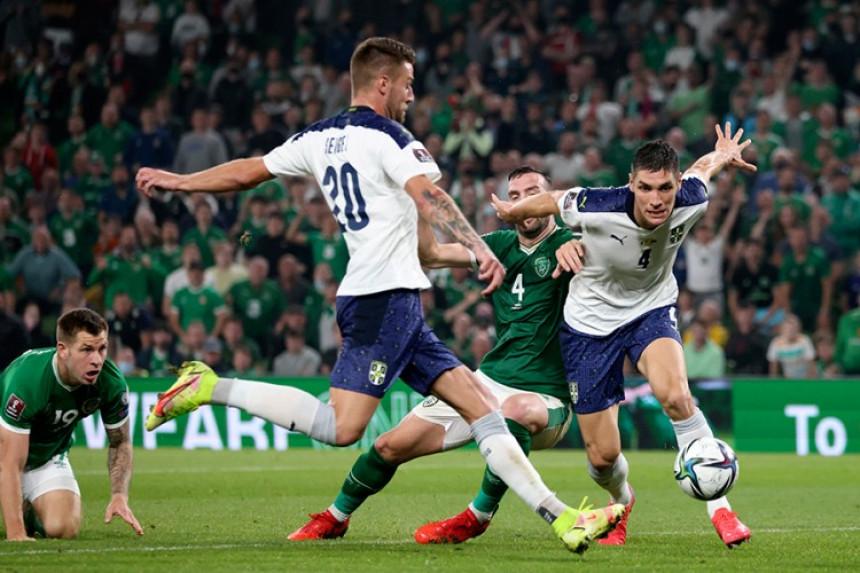 Србија без побједе над Ирском у квалификацијама