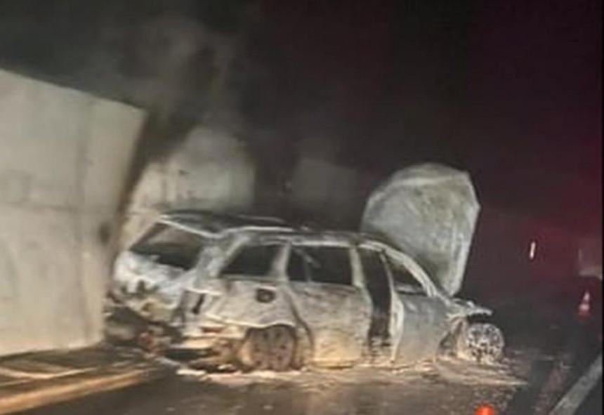 Napadnute sudije kod Jablanice, zapaljeno im auto